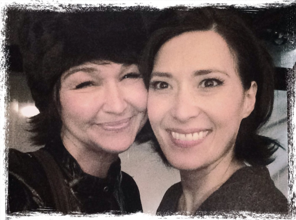 Betsi with Ann Sanders after seeing her in If/Then