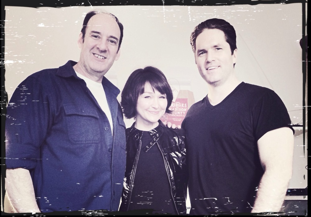 Betsi with Dan Sharkey & Aaron Ramey after seeing them in The Bridges of Madison County