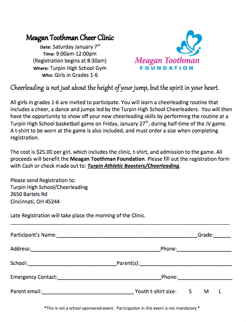 Cheer Clinic Registration Form
