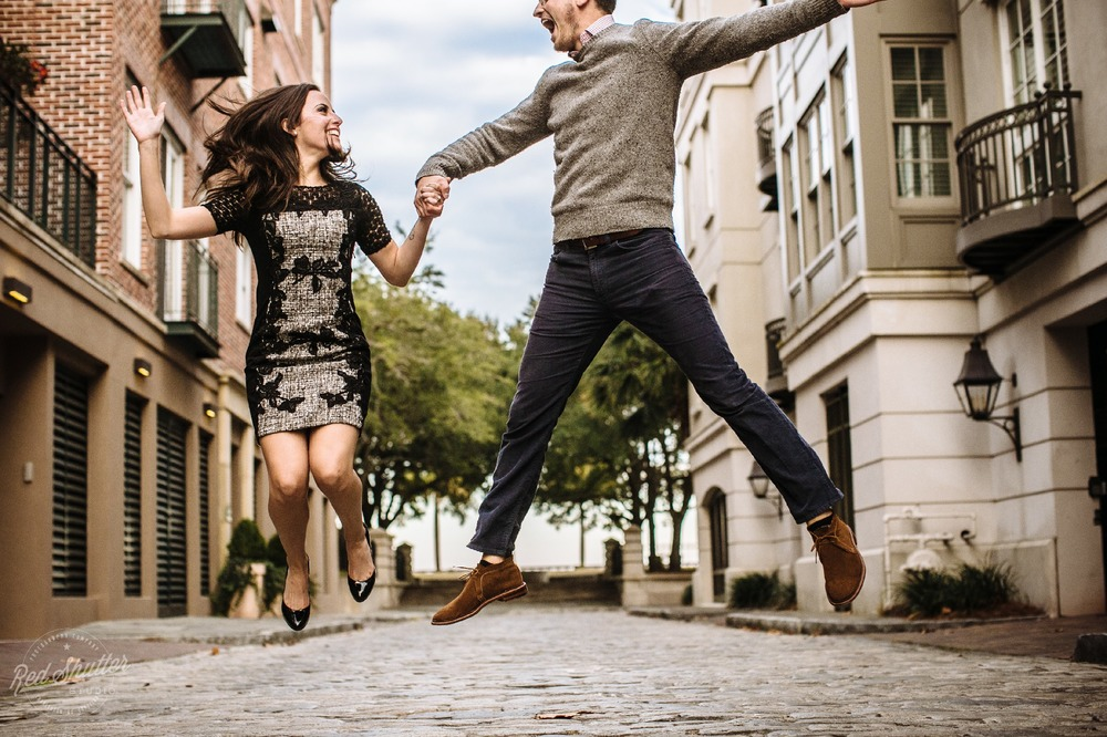 Engagement photos: Christina and Zach - Downtown Charleston [ Slideshow ]