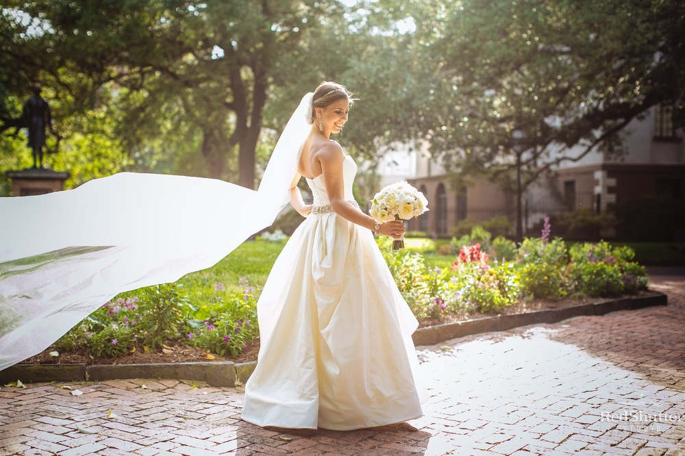 Bridal portraits: Amanda - Francis Marion Hotel and Washington Square Park [ Slideshow ]