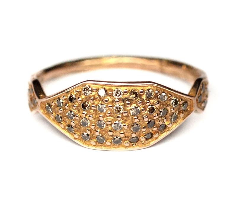 'Hex' Signet Ring