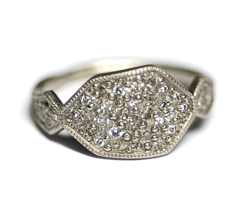 'Geometric' Signet Ring