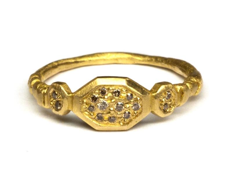 'Yellow Geo' Signet Ring