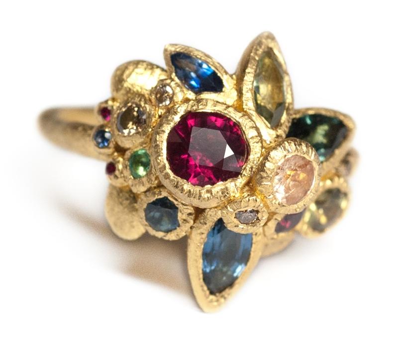 'Gemstone Bouquet' Ring from 'Giardinetti Reali' Series