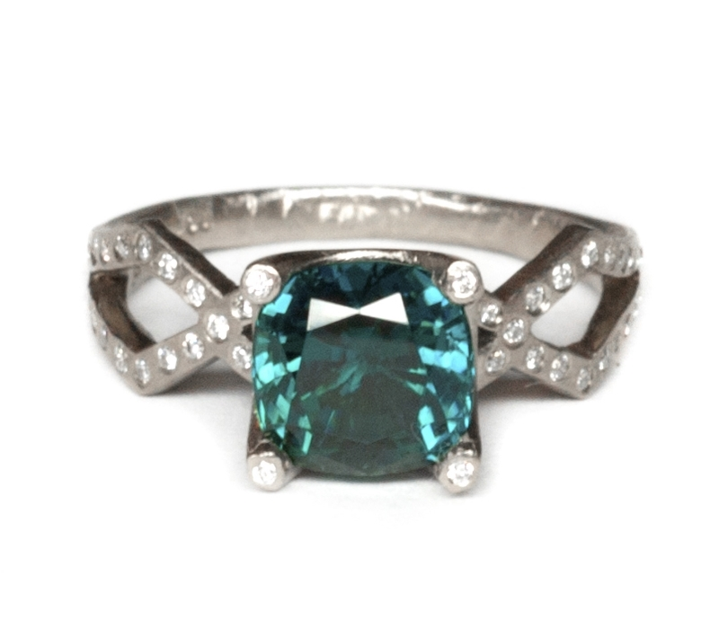 'Tri' Tourmaline Solitaire Ring