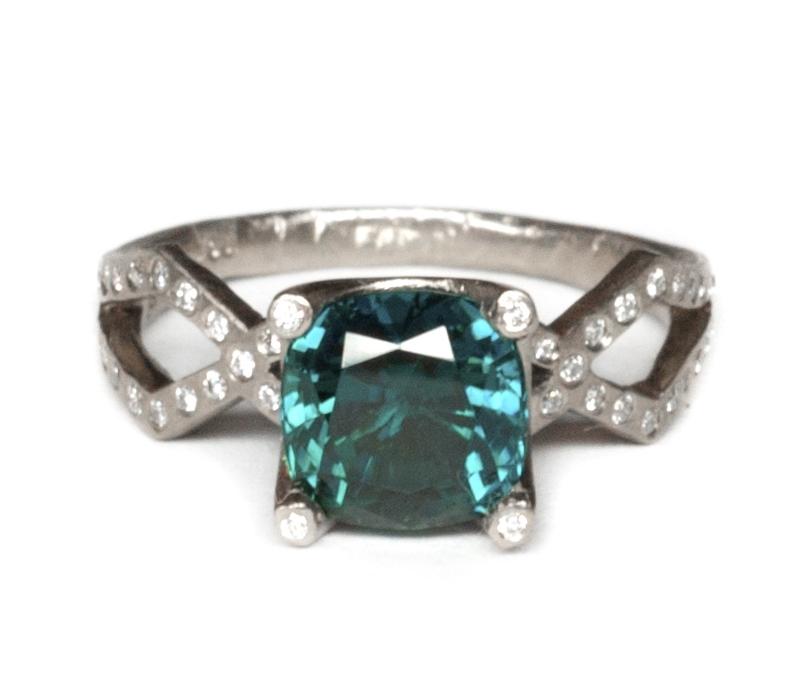 'Tri' Tourmaline Solitaire Ring