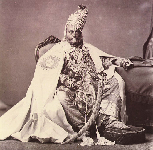 Maharaja of Rewa (Now in Madhya Pradesh) - 1877. A rather austere looking chap.