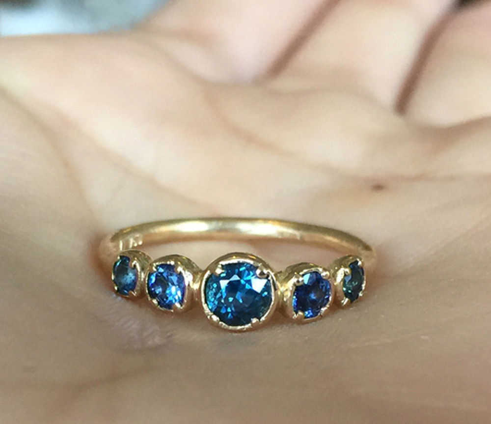 'Golden Blue' Ring