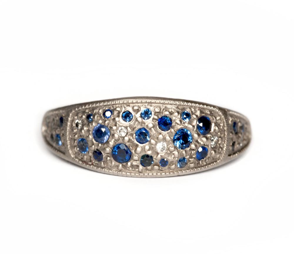 Diamond & Sapphire Signet