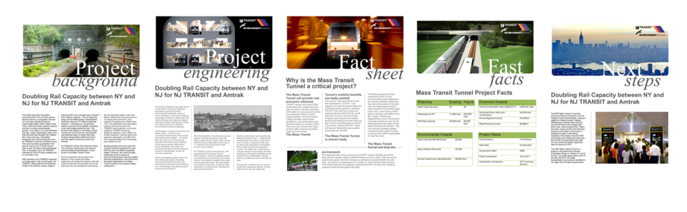 ARC (Access to the Region's Core) - Press Kit Design for NJ Transit