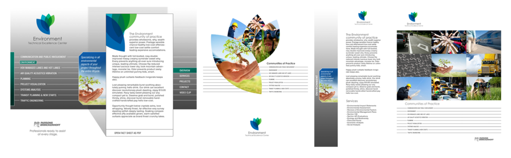 Environment TEC - Interface Design, Folder & Print Material