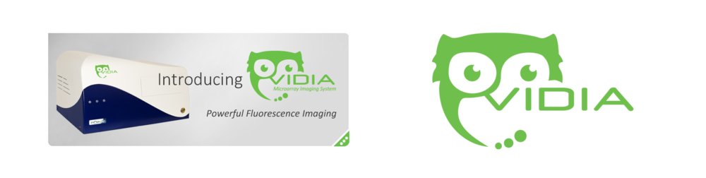 Vidia Microarray Imaging System by InDevR - Logo & Brand