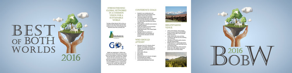 Best of both Worlds - Identity design and materials for an international conference for environment and sustainability.