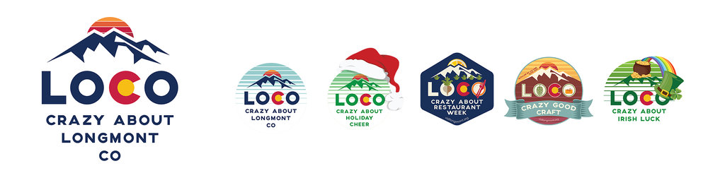 Visit Longmont LOCO Brand and Communications Design. Contract included 6 brochures, 6 ads, full brand and graphic guidelines, stickers, promo materials, Pocket folder and inserts, decals, reports and more.
