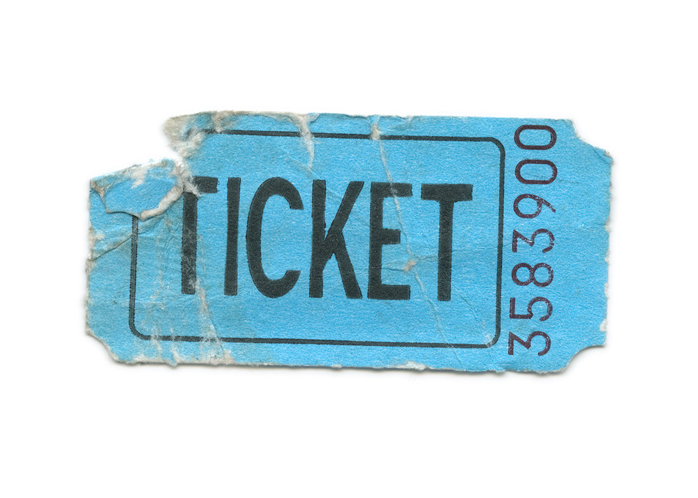 Ticket stub ephemera, found at the Erie County Fair in Hamburg, New York.