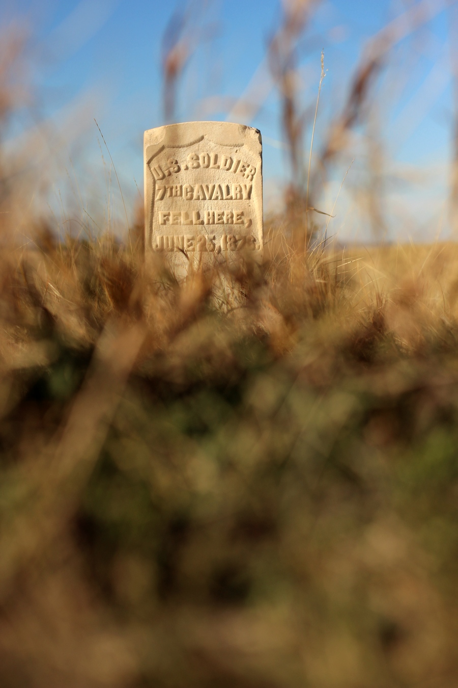 Tombstone, Little Bighorn Battlefield, Wyoming