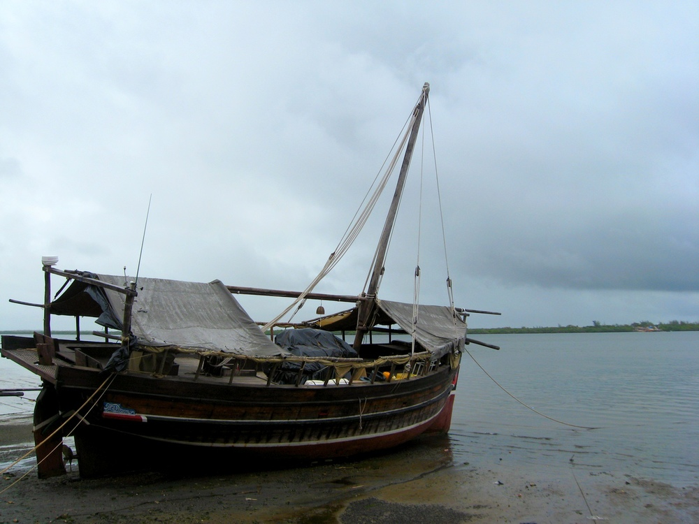 Dhow at anchor, Siyu Island, Kenya