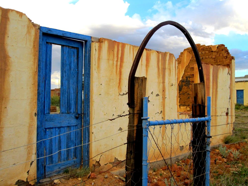 Blue door, Rietbron, South Africa