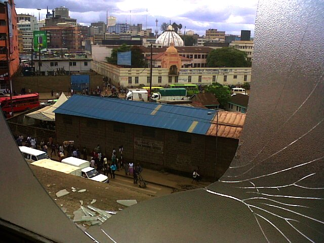 Nairobi through a broken window, Nairobi, Kenya