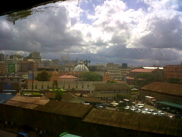 City through a window, Nairobi, Kenya