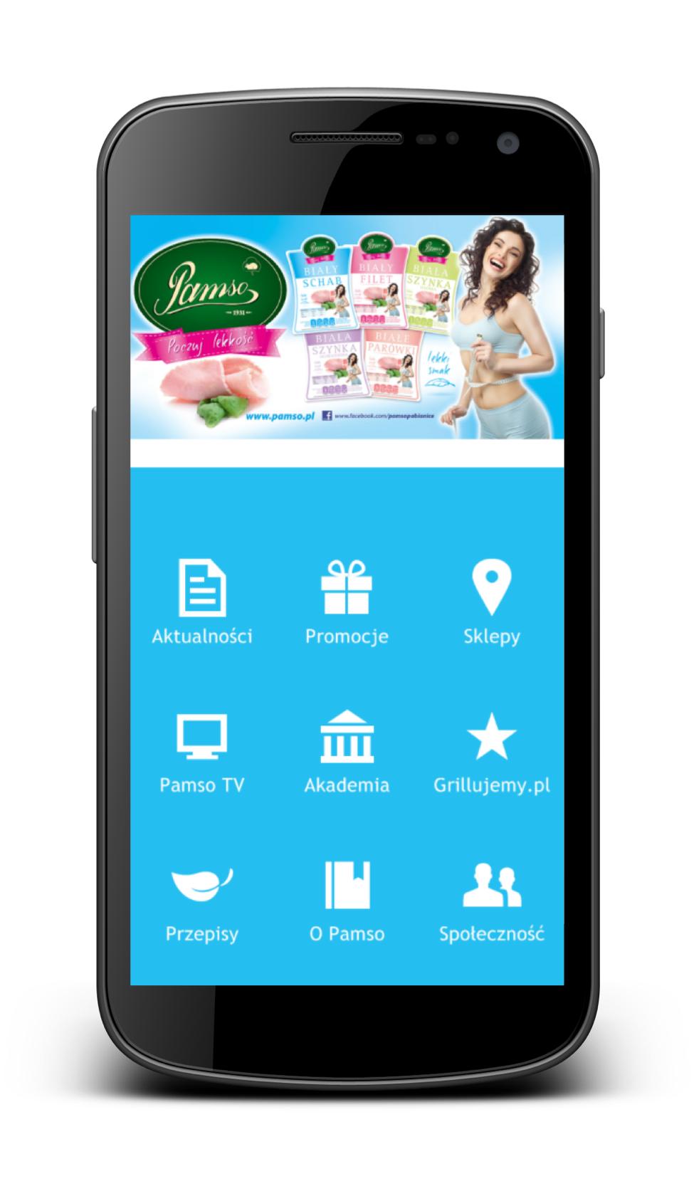 Aplikacja mobilna na Androida dla firmy PAMSO. Wykonanie VELG