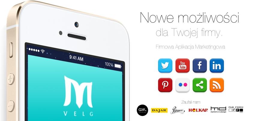 Velg | Dedykowana, mobilna aplikacja firmowa na smartfony iOS oraz Android.