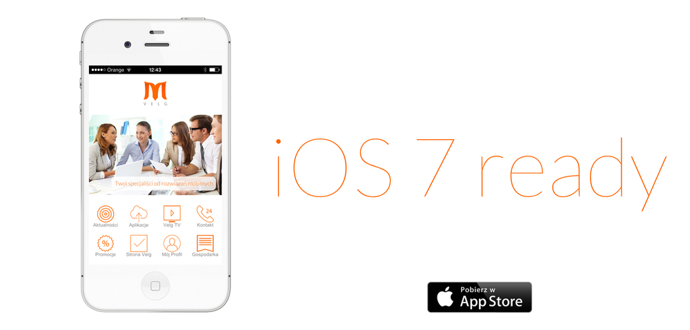 Velg aplikacja mobilna iPhone