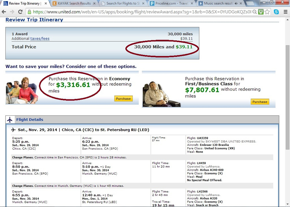 $3,000 flight or $300 cash back? I think I'll take the flight!