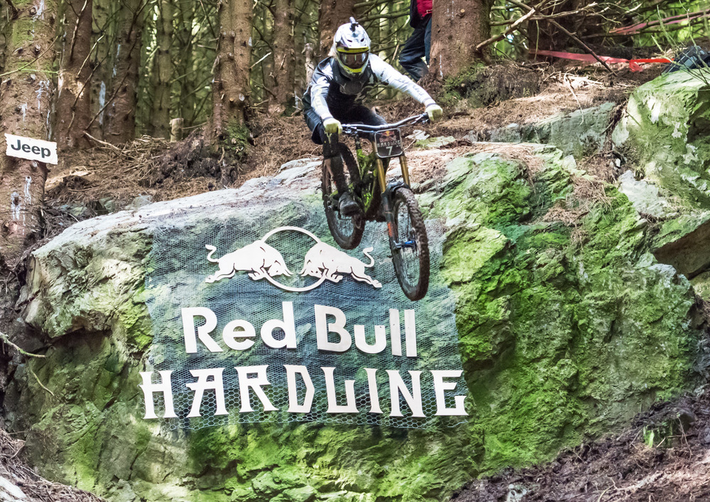 Bernard Kerr drops off The Slab at Red Bull Hardline 2015