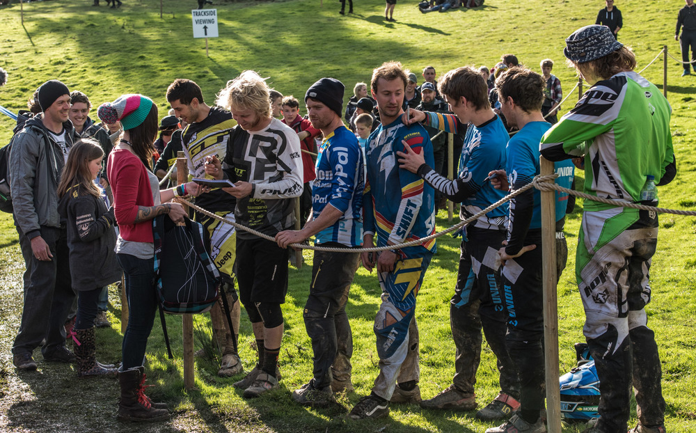 The riders autograph signing at Red Bull Hardline 2015
