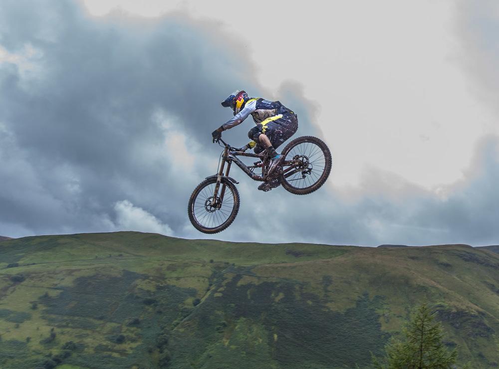 Gee Atherton flies at the Road Gap