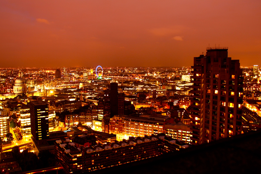 London from Barbican Roof
