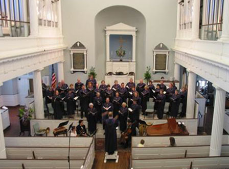 The Chancel Adult Choir at the 2003 Piccolo Spoleto Festival, First Baptist Church, Charleston, South Carolina.