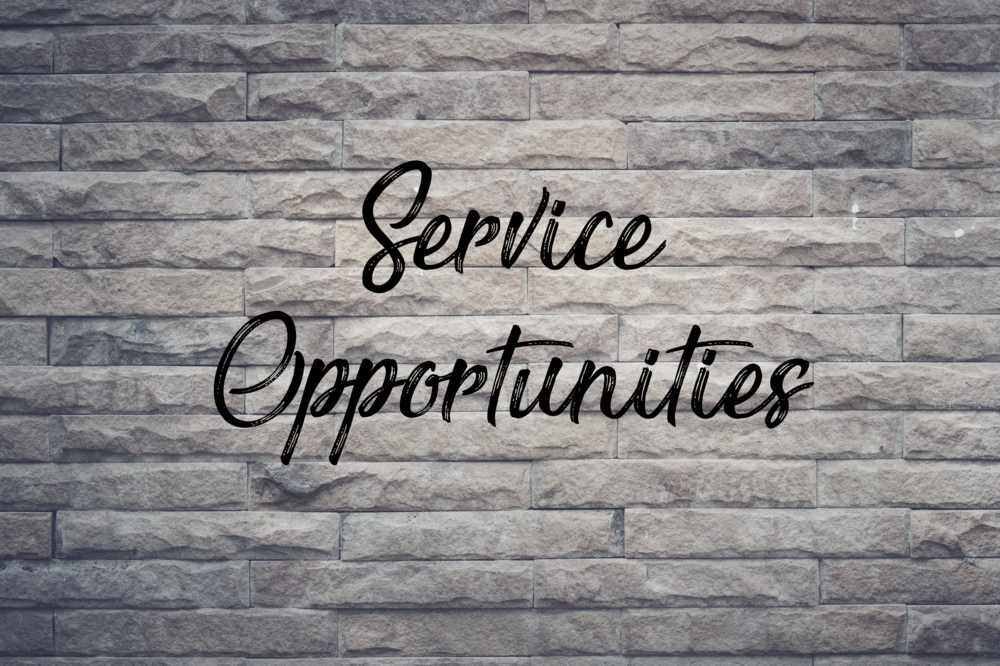 Click to find a list of service opportunities.