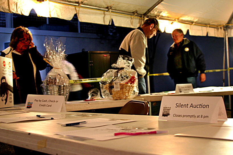 Auction items ripe for the bidding.JPG