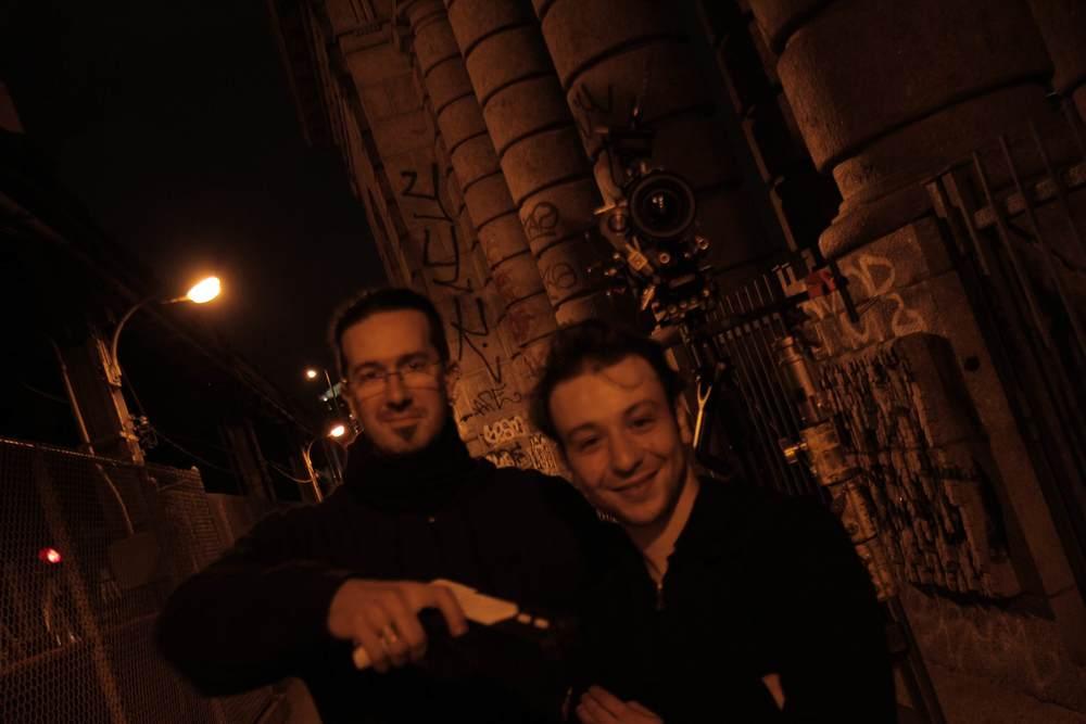 Les Francais:Julien Richard, costume master, and Amar Ioudarene, steadicam genius.