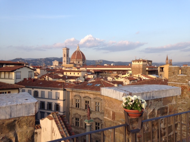 From from our hotel roof terrace of Brunelleschi's dome.
