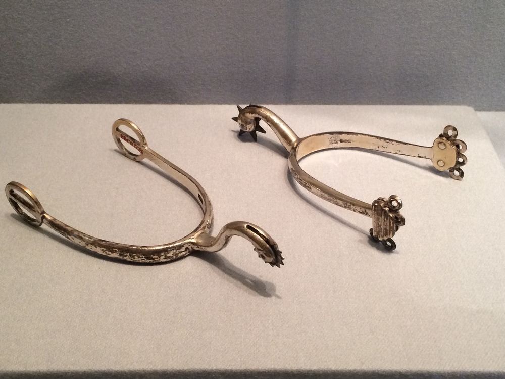 Paul Revere's spurs on display at the Metropolitan Museum of Art.