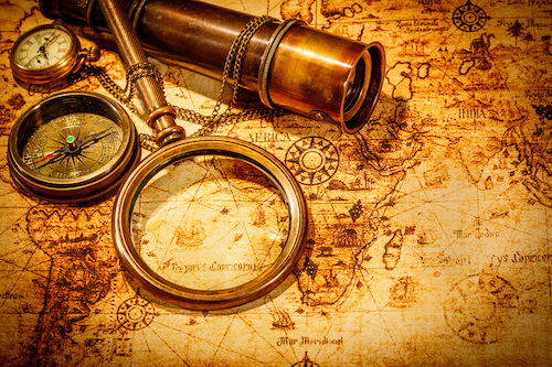 Map & Magnifying Lens