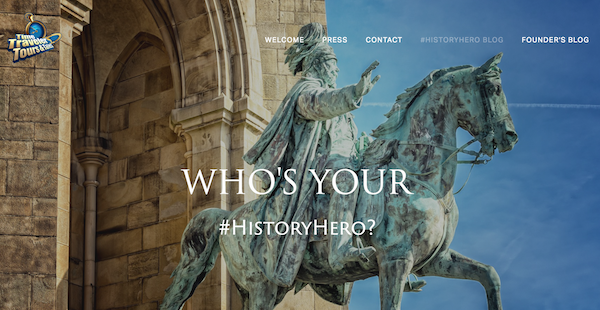 Time Traveler Tours #HistoryHero Blog Banner