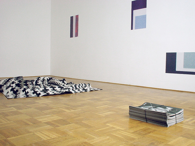 Norfolk_Thompson on Flickr. Novel AC Gebbers | Bibliothekswohnung Cheyney Thompson, Rupert Norfolk Installation View, 2008