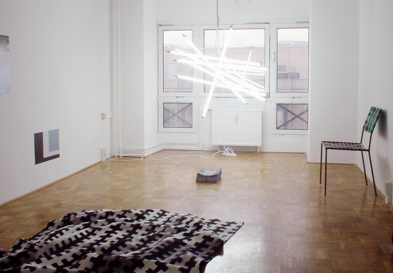 Novel AC Gebbers | Bibliothekswohnung  Berlin  Cheyney Thompson, Rupert Norfolk, Hanna Schwarz, Franz West Installation View, 2008