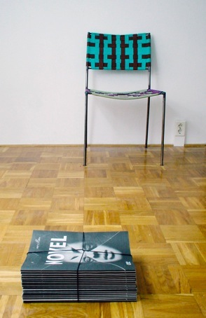 Novel AC Gebbers | Bibliothekswohnung Berlin Franz West Onkel Sessel, 2000 metal, textile 87 x 64 x 58cm