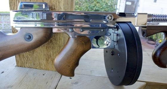 King Arms Thompson Gold & Silver AEG Airsoft Machine Gun