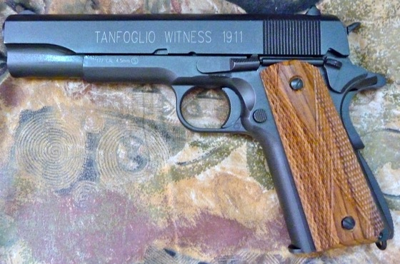 Tanfoglio Witness 1911 with Wood Grips — Replica Airguns