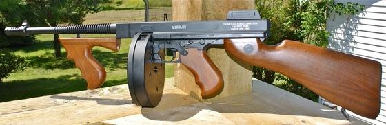 Thompson 1928 Tommy Gun & ICS SG-551 SWAT AEG Airsoft Rifle