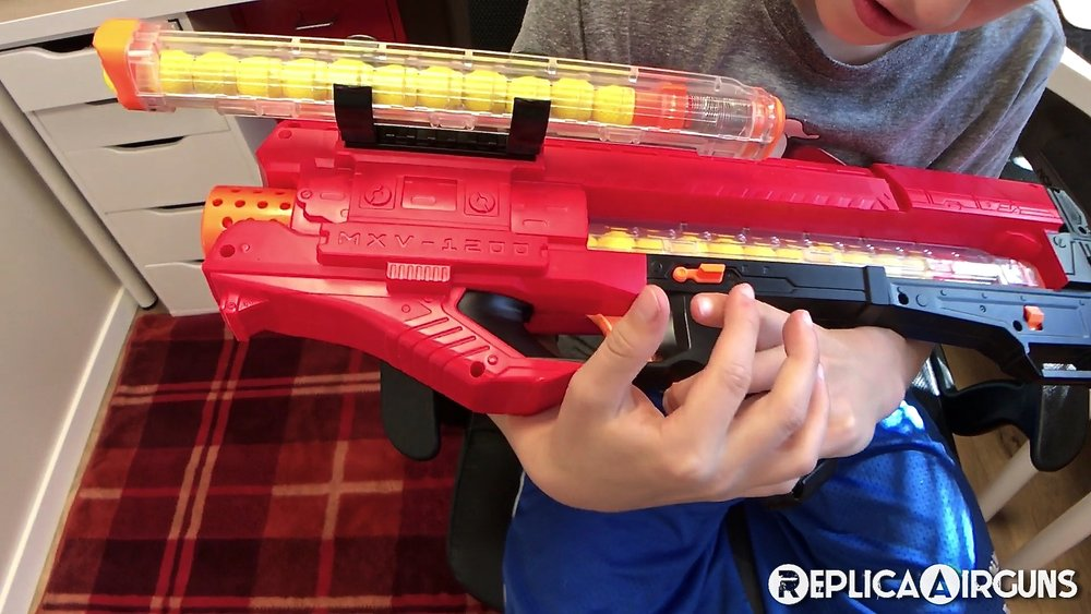 Trigger Pull: The trigger on the Nerf Rival Zeus MXV-1200 is a little long  and requires a firm trigger finger but it is not overly heavy.
