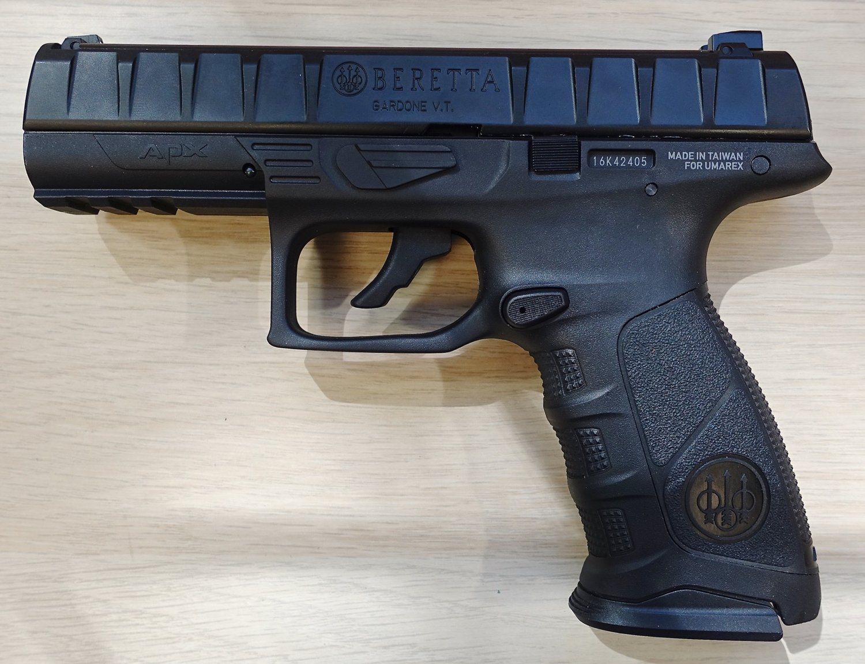 Umarex Beretta APX CO2 Blowback BB Pistol Table Top Review — Replica