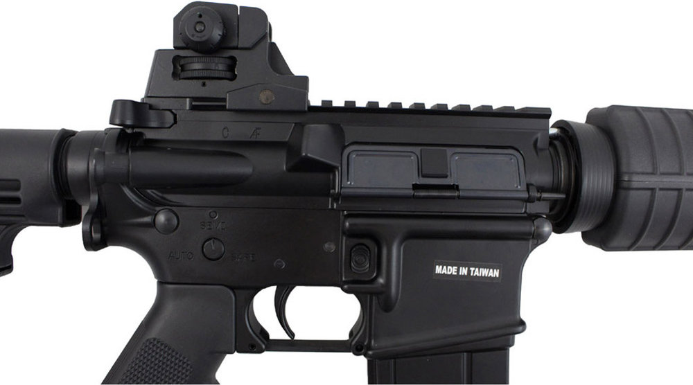 KJWorks M4 CQB Carbine GBB Airsoft Rifle Left Receiver.jpg